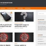 Homepage Erasmus in quarantaine