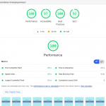 Google Lighthouse Overgangskompas resultaten
