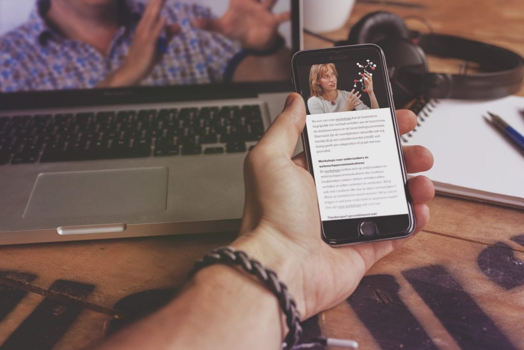 Scientific Storytelling op mobiel