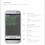Een deel van de homepage van de RoosterApp