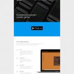 Weer een deel van de RoosterApp homepage