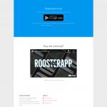 Een deel van de RoosterApp homepage