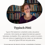 Mobiele weergave homepage Typisch Pitti