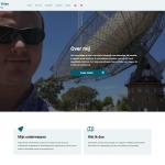 Het eerste deel van de homepage van Gieljan de Vries