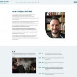 De pagina 'Over Gieljan' op de site van Gieljan de Vries