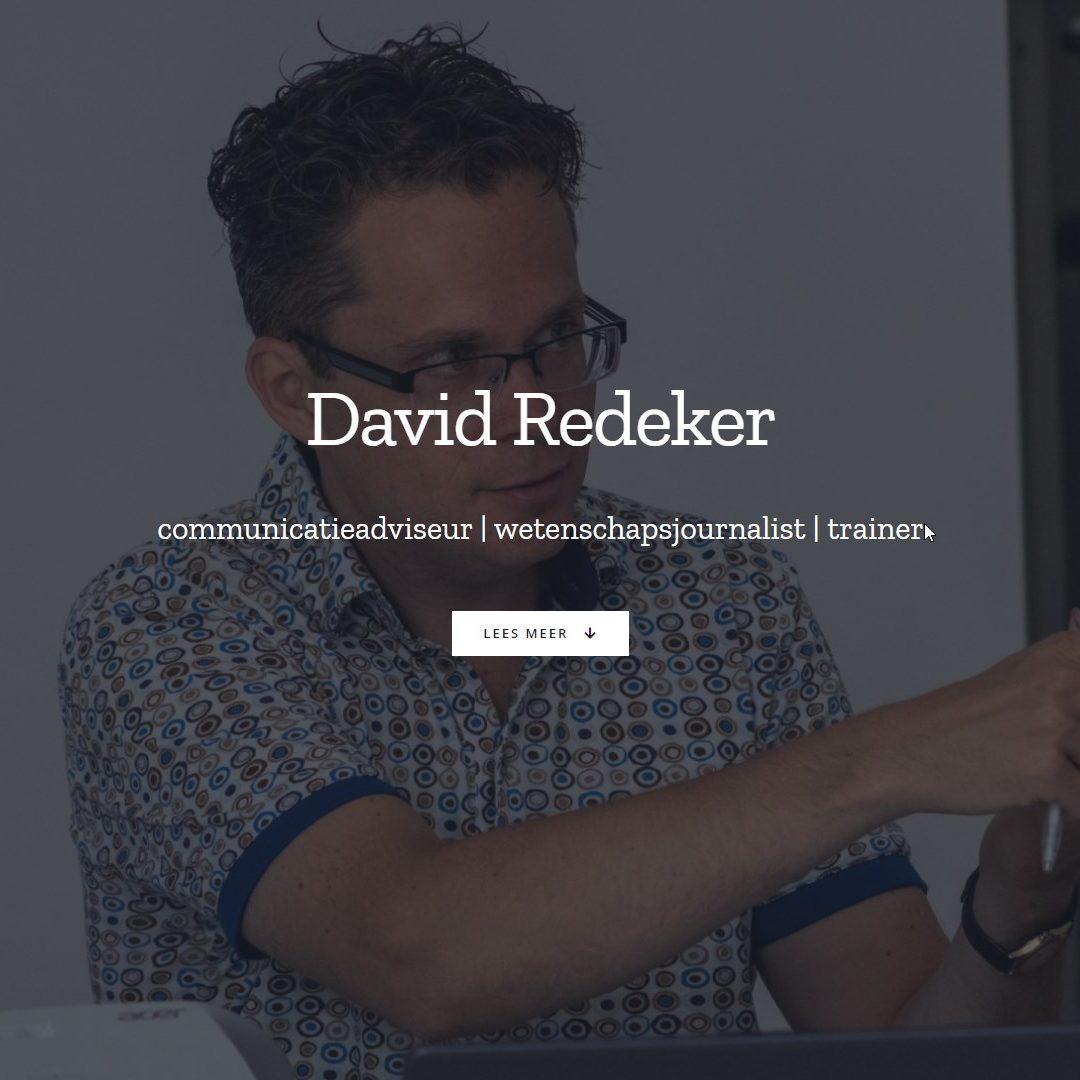 Homepage van David Redeker