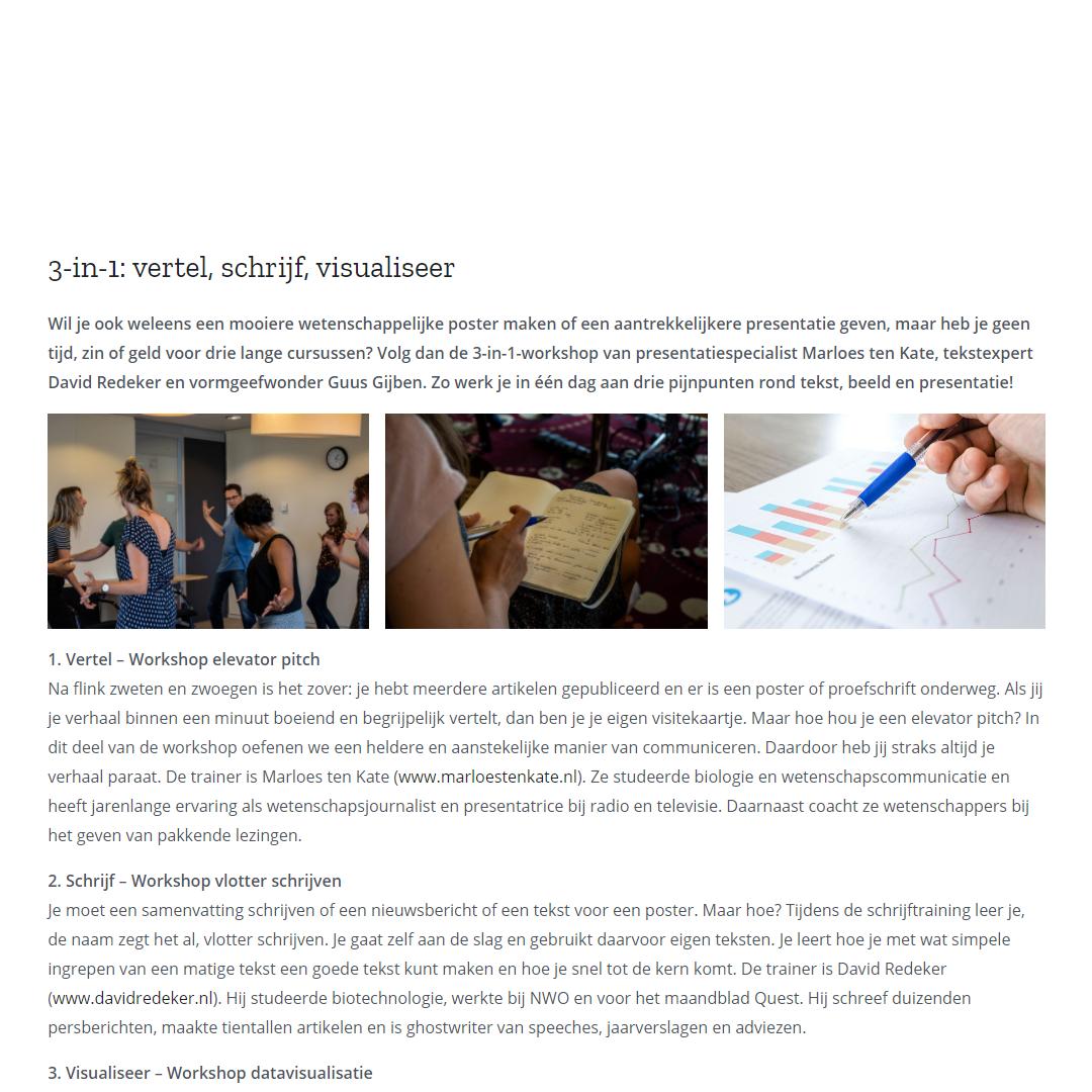 Workshop-pagina