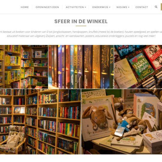 Deel van de homepage Silvester website